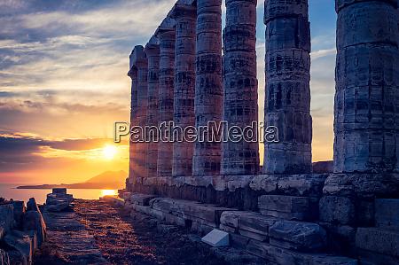poseidon, tempelruinen, am, kap, sounio, bei - 28477937