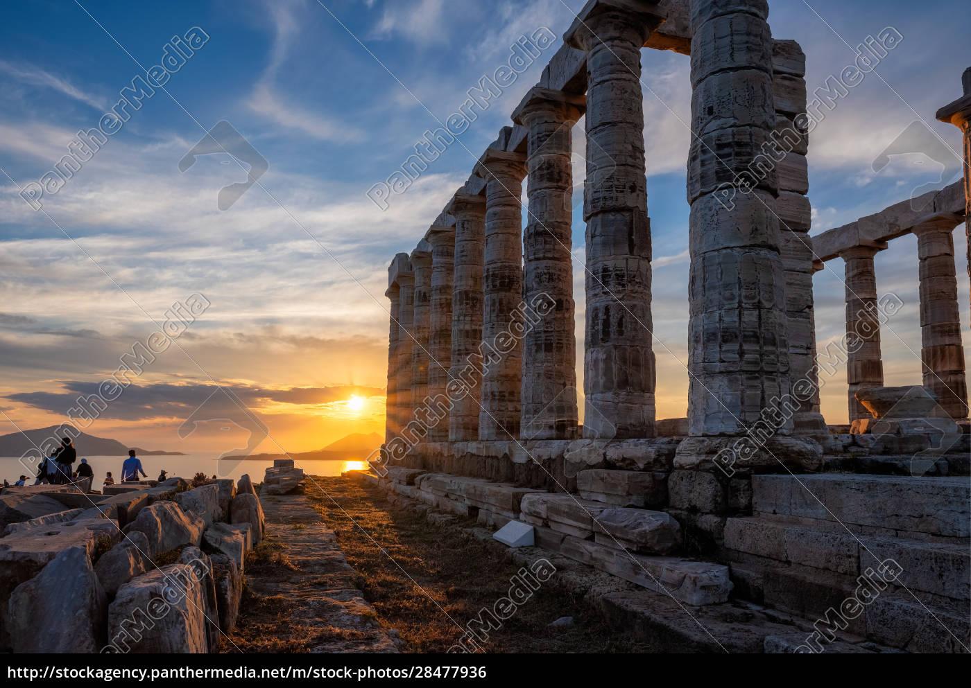 poseidon, temple, ruins, on, cape, sounio - 28477936
