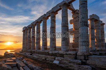 poseidon, temple, ruins, on, cape, sounio - 28477939
