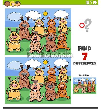 unterschiede paedagogisches spiel mit comic hunde