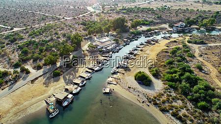 aerial liopetri river famagusta zypern