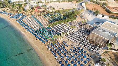 aerial pantachou limanaki beach ayia
