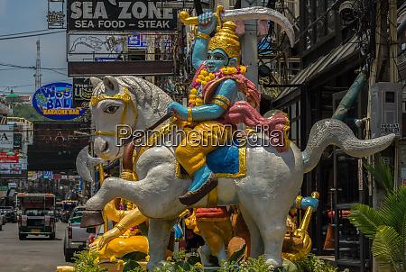 pattaya thailand april 13 2019walking