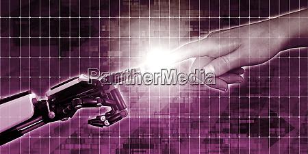 verschmelzung von mensch und technologie