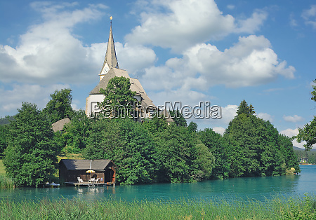 maria woerth kirche see wothersee kaernten