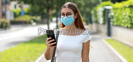 panoramic banner view of young woman