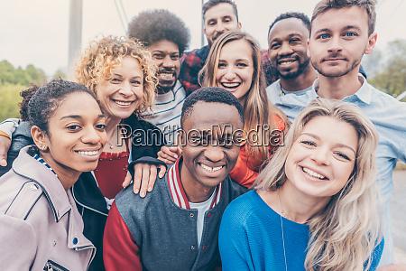 gruppe von diversity menschen