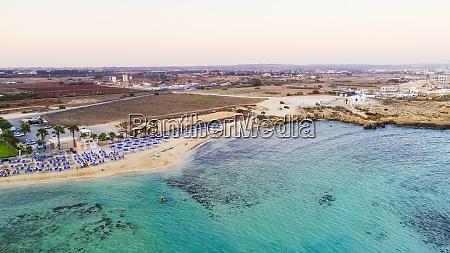 aerial agia thekla beach ayia napa
