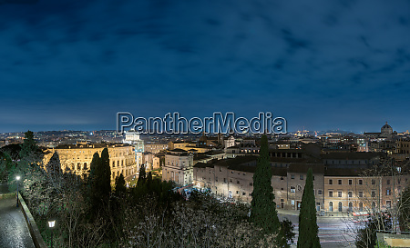 rome skyline from capitoline hill