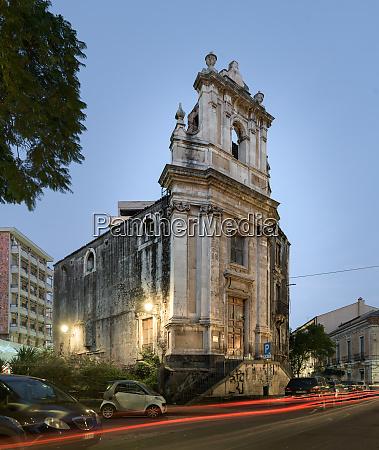 baroque church of san leone catania