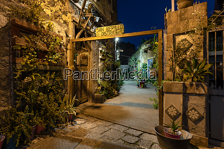newly recoverd san berillo pedestrian district