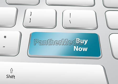 buy now concept pc keyboard vector
