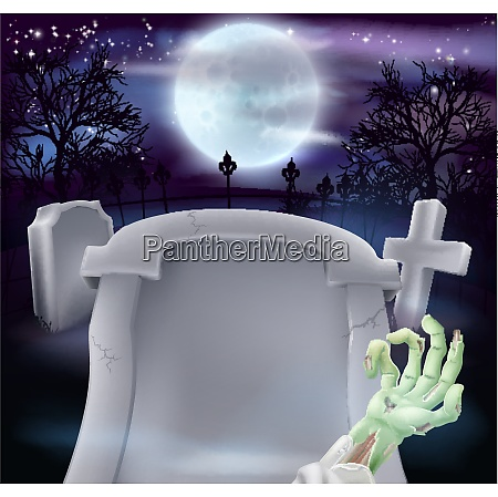 grab halloween hintergrund