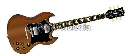 eine solide koerper e gitarre in