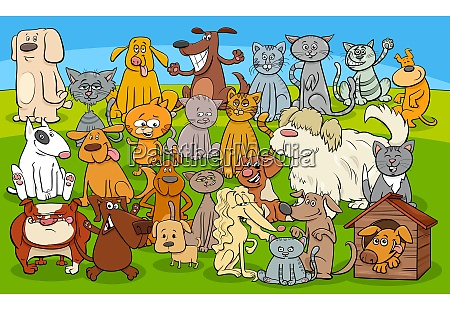 cartoon dogs and cats comic characters