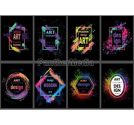 modern art graphics frame