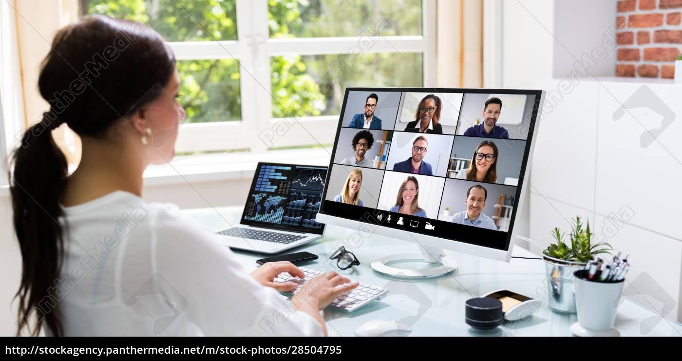 online-videokonferenz - 28504795