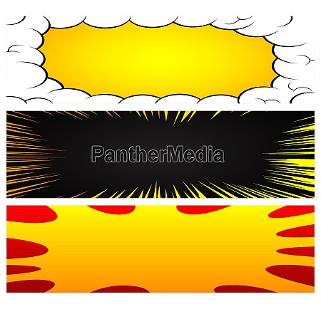 vector background set in comic book