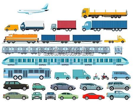 automobil eisenbahn und schwerlastverkehr illustration