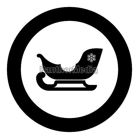 schlitten santa claus schwarze ikone im