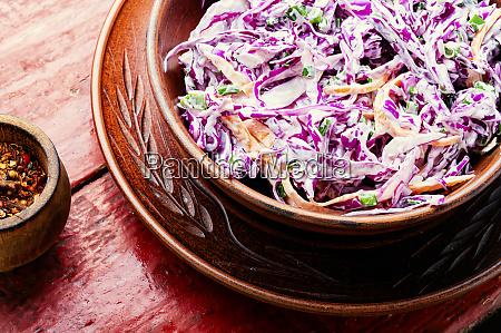 red kraut salad