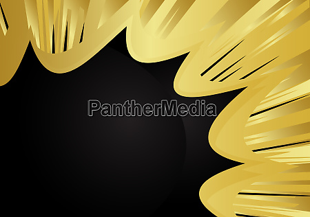 cartoon design gold colored background comic