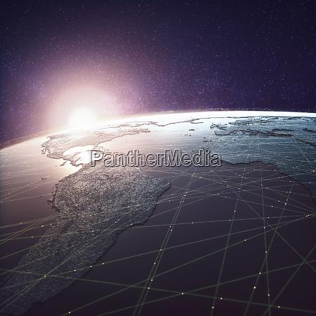 weltweite technologiekonnektivitaet amerika