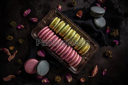 macaron dessert konzept