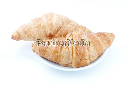 croissant, , croissant, bread, on, plate, on - 28531868