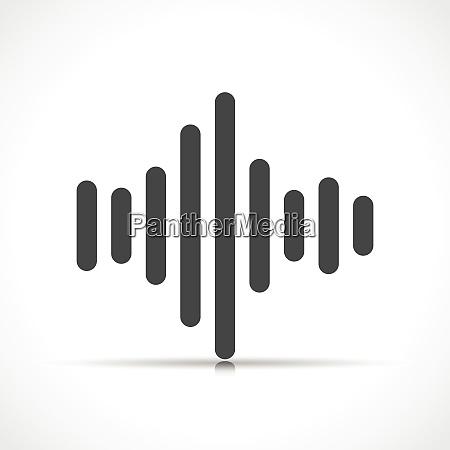 vector sound symbol icon isolated