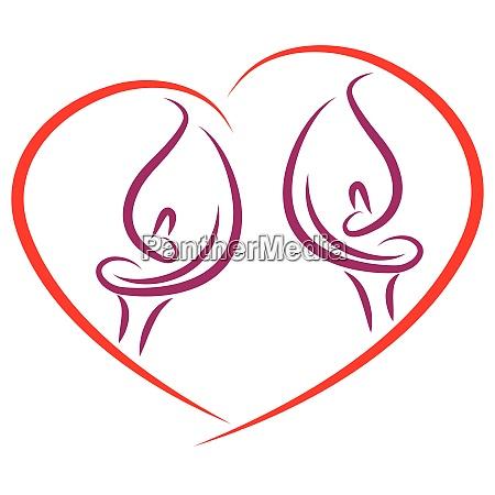 herz zantedeschia pflanze calla blume logo