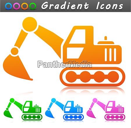 vector excavator symbol icon design