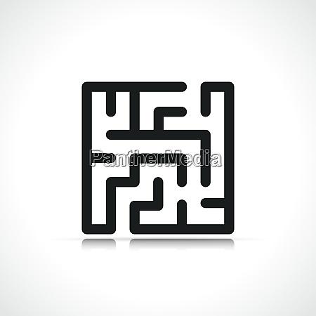 vector maze symbol icon design