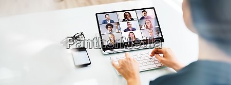 online video conference interview call