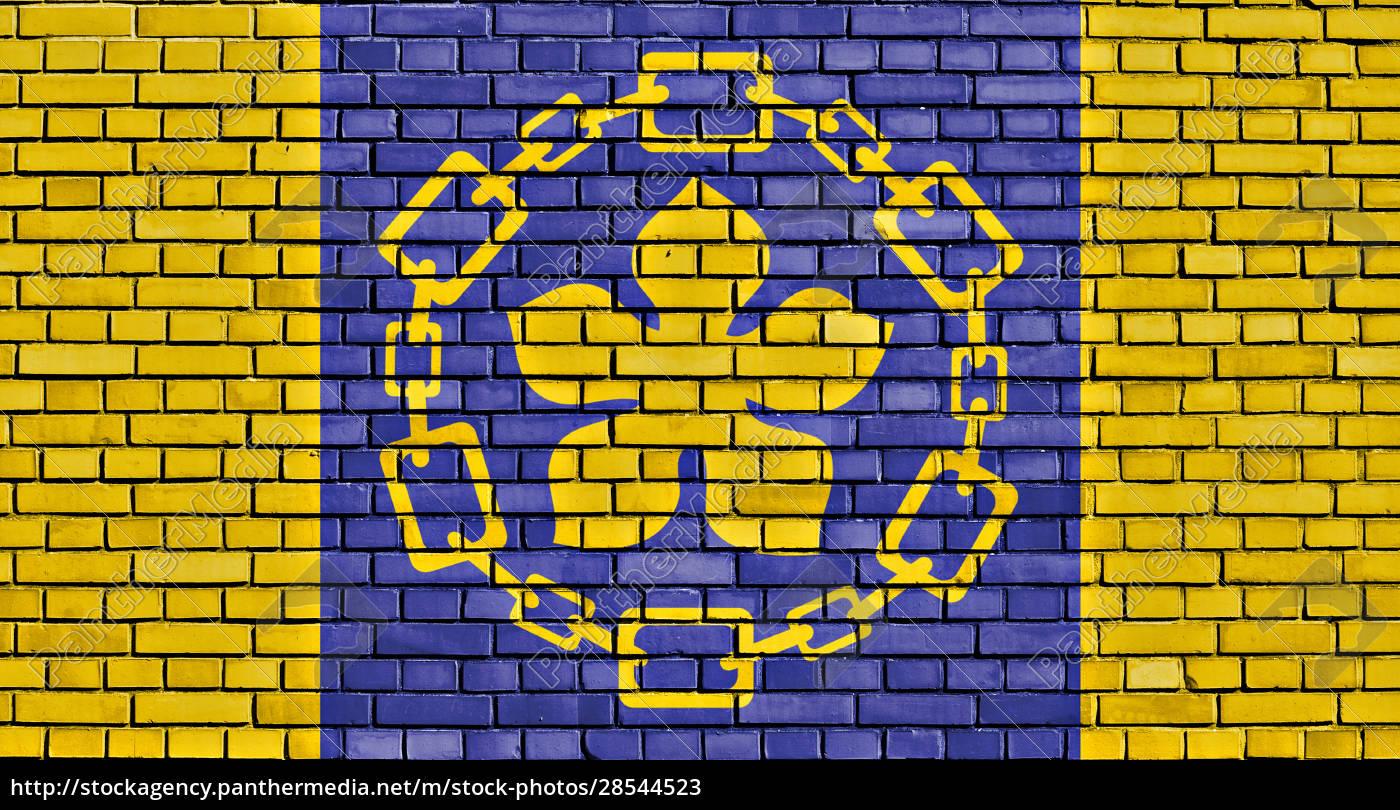 flag, of, hamilton, painted, on, brick - 28544523