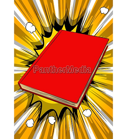 nahaufnahme des geschlossenen hardcover lehrbuchs