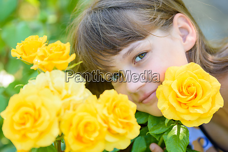 portrait of a girl of nine