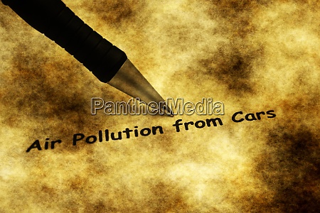 luftverschmutzung durch autos grunge konzept