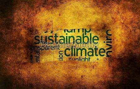 nachhaltiges klima grunge konzept