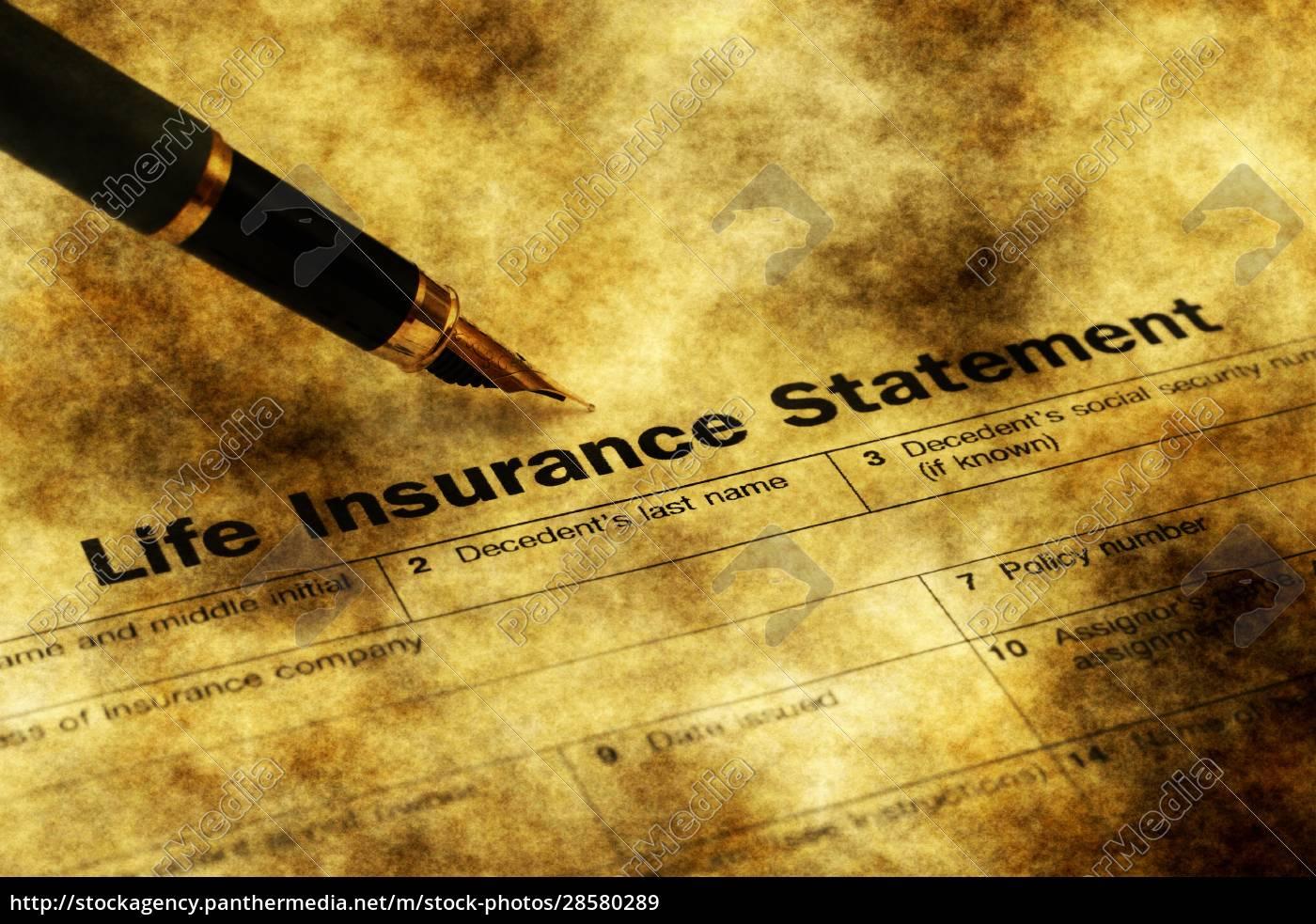 life, insurance, form, grunge, concept - 28580289