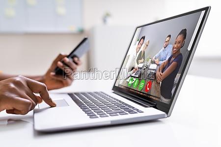 online video konferenz work call