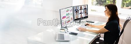 online video konferenz learning call