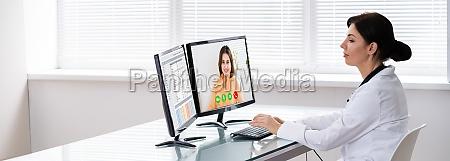 video arzt anruf patient zu chatten