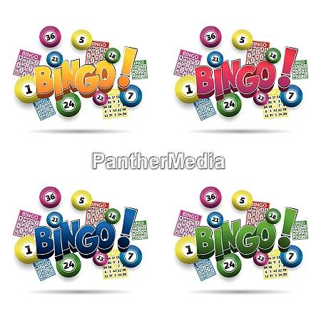 bingo lotterie kugeln und bingo karten