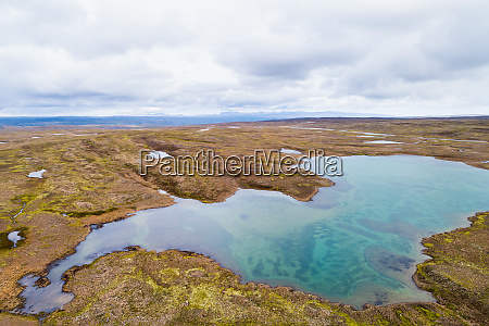 aerial view of lake on a
