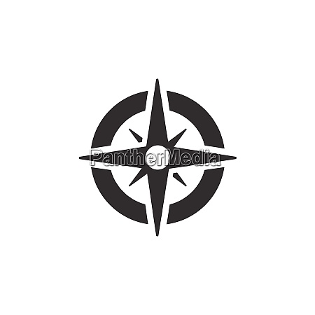 wind rose sign compass icon weather