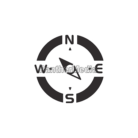 compass north west direction icon weather