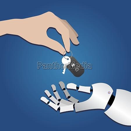 robothandtake