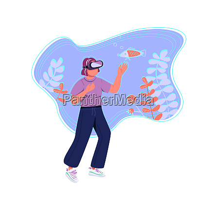 virtual reality flache konzept vektor illustration