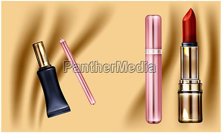 mock up illustration von weiblichen eyeliner